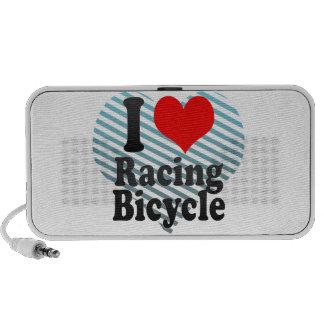 Amo el competir con de la bicicleta laptop altavoz