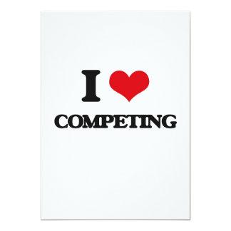"""Amo el competir invitación 5"""" x 7"""""""