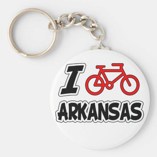 Amo el completar un ciclo de Arkansas Llavero Redondo Tipo Pin