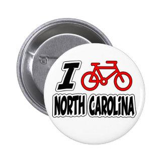 Amo el completar un ciclo de Carolina del Norte Pins