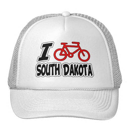 Amo el completar un ciclo de Dakota del Sur Gorros