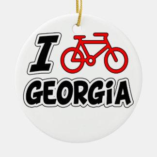 Amo el completar un ciclo de Georgia Adorno Navideño Redondo De Cerámica