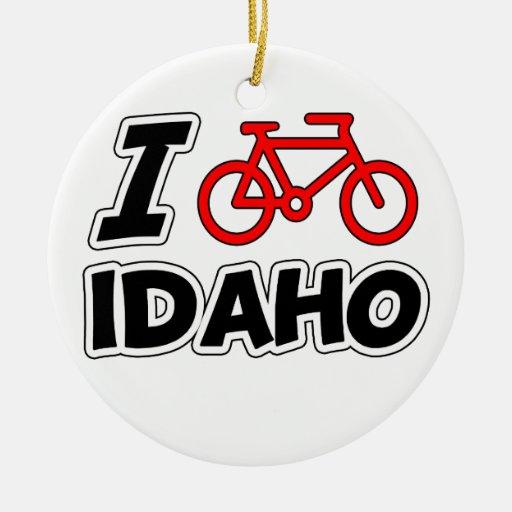 Amo el completar un ciclo de Idaho Adorno Navideño Redondo De Cerámica