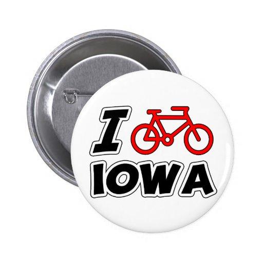 Amo el completar un ciclo de Iowa Pin