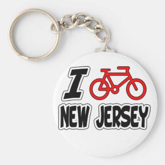 Amo el completar un ciclo de New Jersey Llavero Redondo Tipo Pin