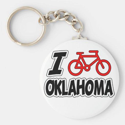 Amo el completar un ciclo de Oklahoma Llavero Redondo Tipo Pin