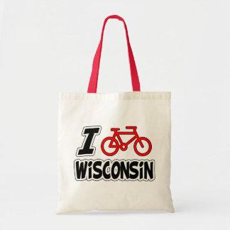 Amo el completar un ciclo de Wisconsin Bolsa Tela Barata