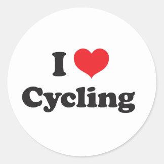 Amo el completar un ciclo pegatina redonda