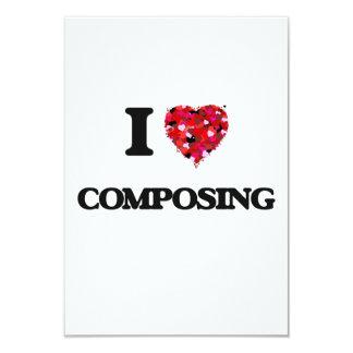 """Amo el componer invitación 3.5"""" x 5"""""""