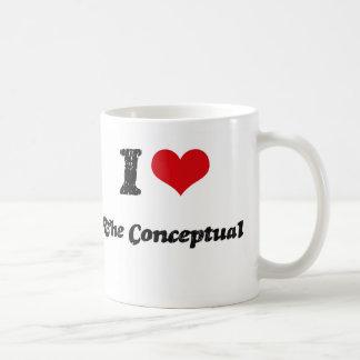 Amo el conceptual tazas de café