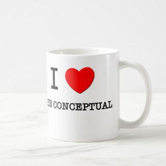 Amo el conceptual taza de café