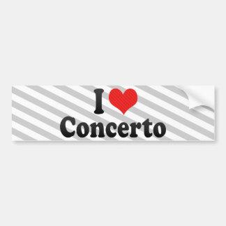 Amo el concierto etiqueta de parachoque