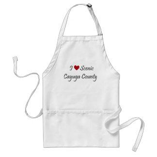 Amo el condado de Cayuga escénico Delantal