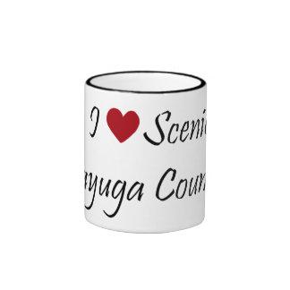 Amo el condado de Cayuga escénico Taza De Dos Colores