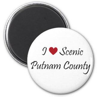 Amo el condado de Putnam escénico Imán Redondo 5 Cm