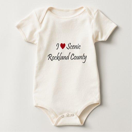 Amo el condado de Rockland escénico Body Para Bebé
