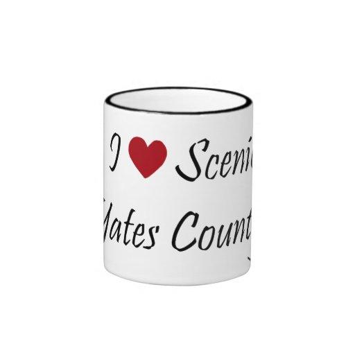 Amo el condado de Yates escénico Taza A Dos Colores