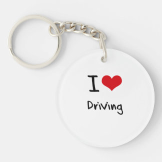 Amo el conducir llavero