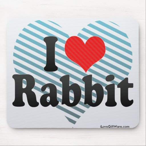 Amo el conejo mouse pads