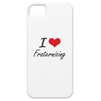 Amo el confraternizar funda para iPhone 5 barely there