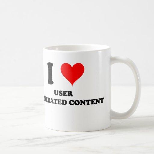 Amo el contenido generado usuario taza básica blanca