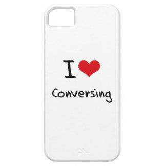 Amo el conversar iPhone 5 fundas