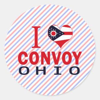 Amo el convoy Ohio Etiquetas Redondas