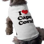Amo el coral del cabo camiseta de perrito