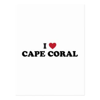 Amo el coral la Florida del cabo Tarjeta Postal
