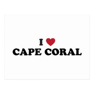 Amo el coral la Florida del cabo Tarjetas Postales