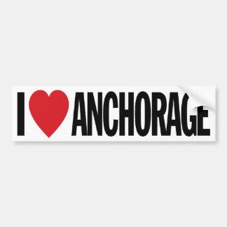 Amo el corazón Anchorage etiqueta del vinilo de Pegatina Para Auto