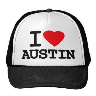Amo el corazón Austin Tejas Gorras