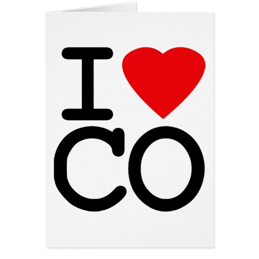 Amo el corazón Colorado Tarjeta De Felicitación