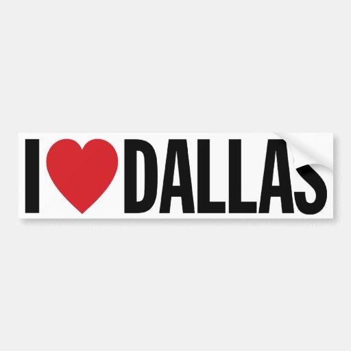 """Amo el corazón Dallas etiqueta del vinilo de 11"""" Pegatina Para Coche"""