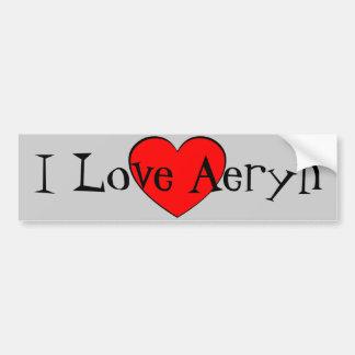 Amo el corazón de Aeryn Pegatina Para Auto