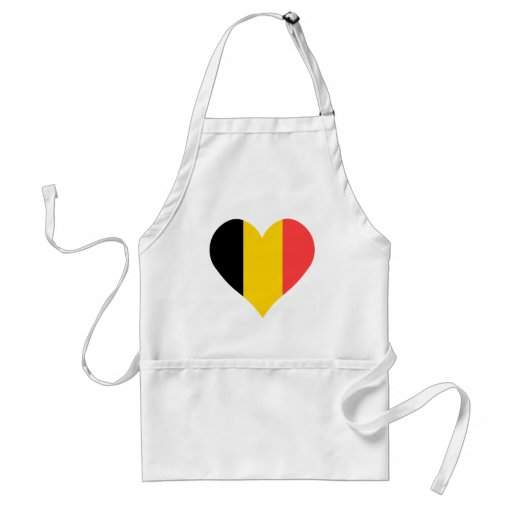 Amo el corazón de Bélgica Delantal