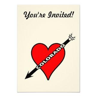 Amo el corazón de Colorado Invitación 12,7 X 17,8 Cm