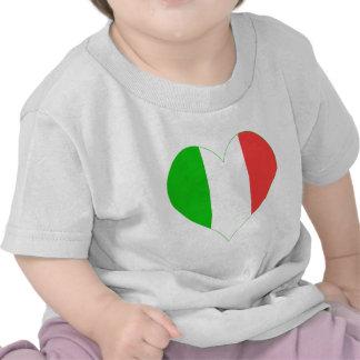 Amo el corazón de Italia Camiseta