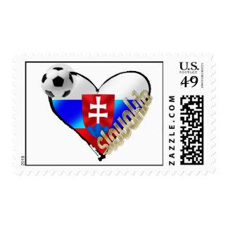 Amo el corazón de la bandera de Eslovaquia del Sellos