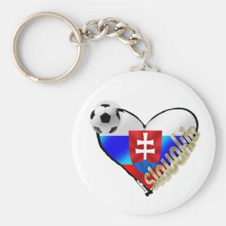 Amo el corazón de la bandera de Eslovaquia del soo Llaveros