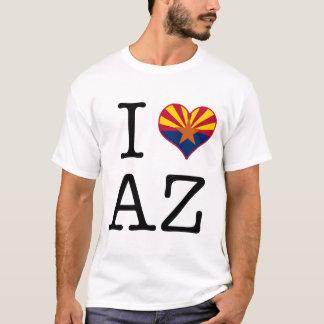 Amo el corazón de la bandera del estado de Arizona Playera