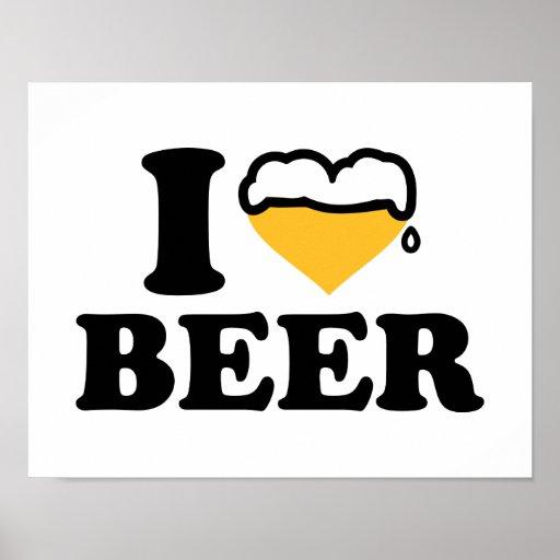 Amo el corazón de la cerveza impresiones