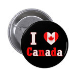 Amo el corazón de la hoja de arce de Canadá Pins