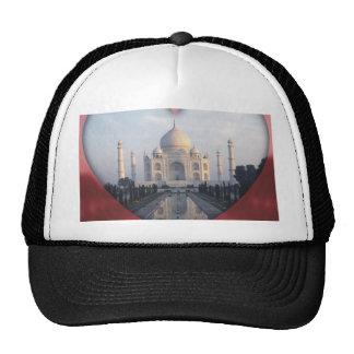 """""""Amo el corazón de la India"""" el Taj Mahal Gorras De Camionero"""