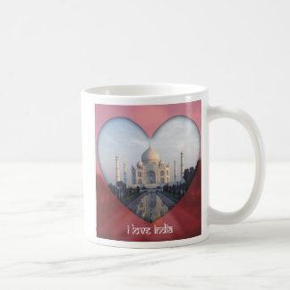 Amo el corazón de la India el Taj Mahal Tazas