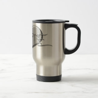 Amo el corazón de la plata de la flauta taza de café