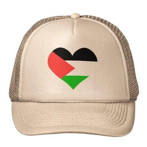 Amo el corazón de Palestina Gorros