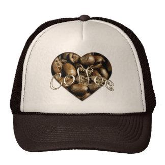 Amo el corazón del café gorras