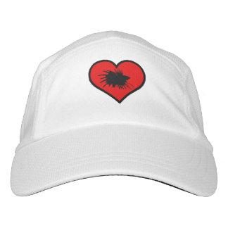 Amo el corazón del rojo de la silueta de los gorra de alto rendimiento