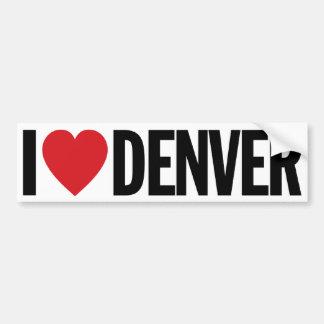 """Amo el corazón Denver etiqueta del vinilo de 11"""" Pegatina Para Auto"""